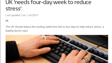 4 day week reduces stress